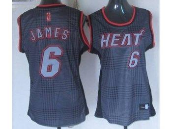 Women NBA Miami Heat #6 James black-grey(2012)