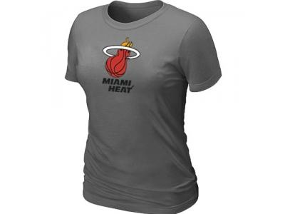 Women NBA Miami Heat Big & Tall Primary Logo D.Grey s T-Shirt