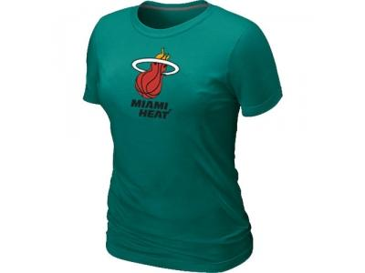 Women NBA Miami Heat Big & Tall Primary Logo L.Green T-Shirt