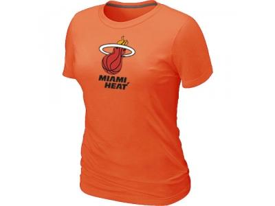 Women NBA Miami Heat Big & Tall Primary Logo Orange T-Shirt