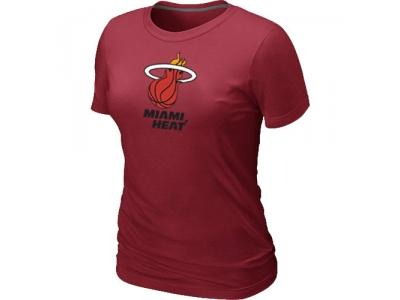 Women NBA Miami Heat Big & Tall Primary Logo Red T-Shirt