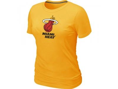Women NBA Miami Heat Big & Tall Primary Logo Yellow T-Shirt