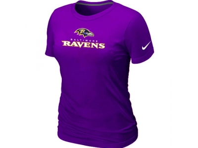 Women NEW Baltimore Ravens Authentic Logo T-Shirt purple