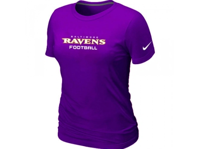 Women NEW Baltimore Ravens Sideline Legend Authentic Font T-Shirt PURPLE