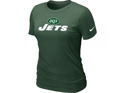 Women NEW New York Jets Authentic Logo T-Shirt - Team Green