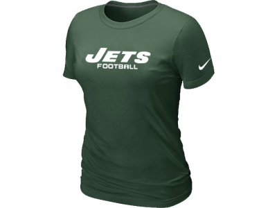 Women NEW New York Jets Sideline Legend Authentic Font T-Shirt Green