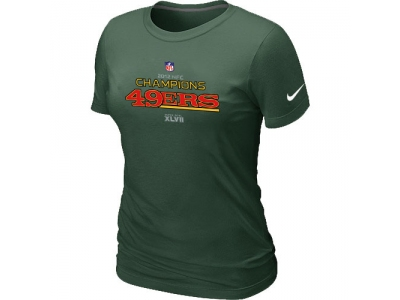 Women NEW San Francisco 49ers 2012 NFC Conference Champions Trophy Collection Long D.Green T-Shirt
