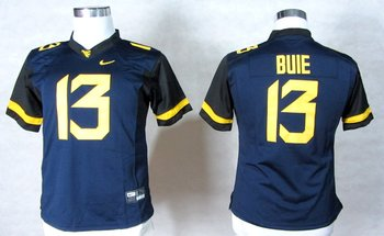 Women NEW West Virginia Mountaineers Andrew Buie 13 College Football Elite Jerseys - Blue