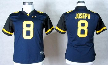 Women NEW West Virginia Mountaineers Karl Joseph 8 College Football Elite Jerseys - Blue
