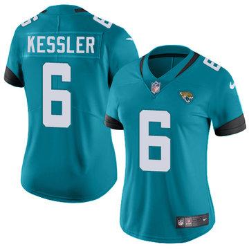 Women NFL Nike Jacksonville Jaguars #6 Cody Kessler Green Vapor Untouchable Limited Jersey