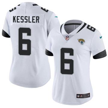 Women NFL Nike Jacksonville Jaguars #6 Cody Kessler White Road Vapor Untouchable Limited Jersey