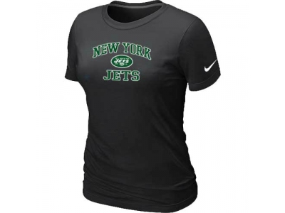 Women New York Jets Heart & Soul Black T-Shirt
