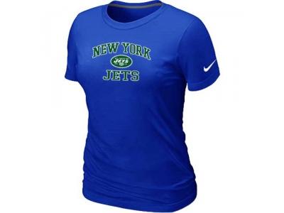Women New York Jets Heart & Soul Blue T-Shirt