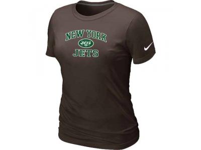Women New York Jets Heart & Soul Brown T-Shirt