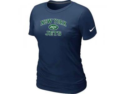 Women New York Jets Heart & Soul D.Blue T-Shirt