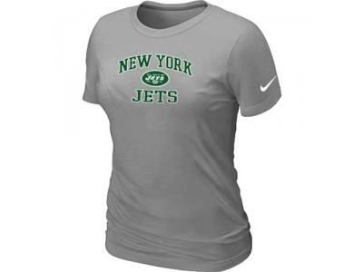 Women New York Jets Heart & Soul L.Grey T-Shirt