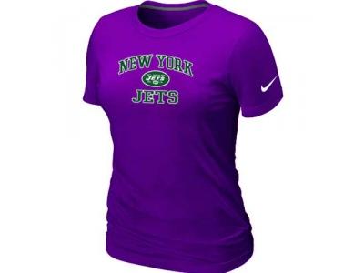 Women New York Jets Heart & Soul Purple T-Shirt
