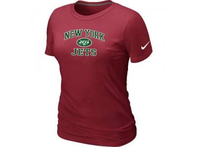 Women New York Jets Heart & Soul Red T-Shirt
