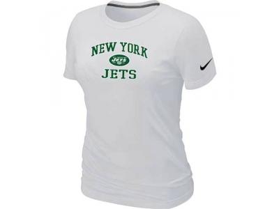 Women New York Jets Heart & Soul White T-Shirt