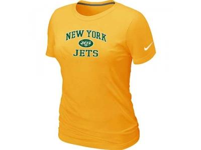 Women New York Jets Heart & Soul Yellow T-Shirt