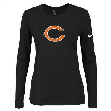Women Nike Chicago Bears Of The City Long Sleeve Tri-Blend NFL T-Shirt Black