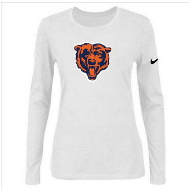 Women Nike Chicago Bears Of The City Long Sleeve Tri-Blend NFL T-Shirt White