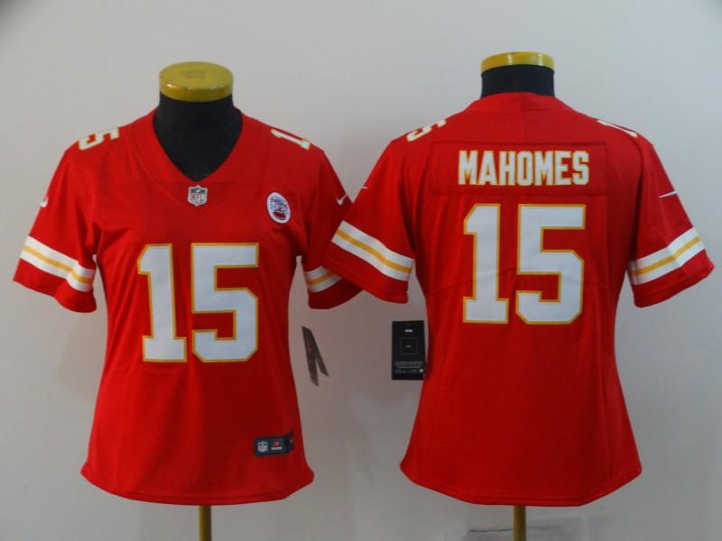 Women Nike Chiefs 15 Patrick Mahomes Red Women Vapor Untouchable Limited Jersey