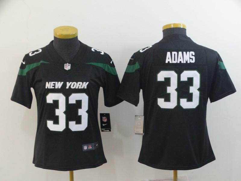 Women Nike Jets 33 Jamal Adams Black Women New 2019 Vapor Untouchable Limited Jersey