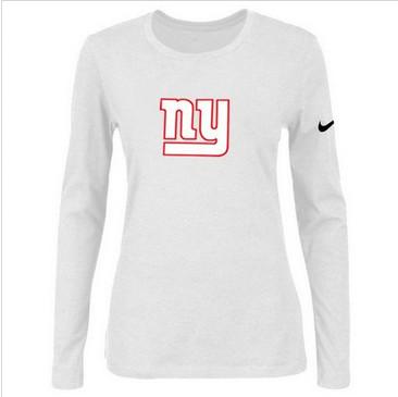 Women Nike New York Giants Of The City Long Sleeve Tri-Blend NFL T-Shirt White