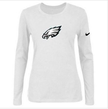 Women Nike Philadelphia Eagles Of The City Long Sleeve Tri-Blend NFL T-Shirt White