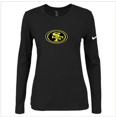 Women Nike San Francisco 49ers Of The City Long Sleeve Tri-Blend NFL T-Shirt Black-2
