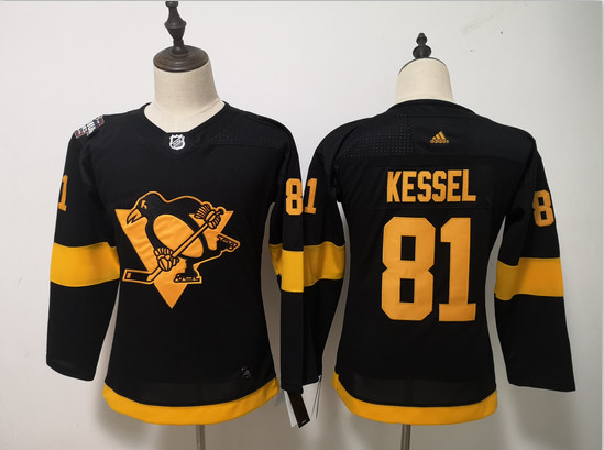 Women Penguins 81 Evgeni Kessel Black Women 2019 NHL Stadium Series Adidas Jersey