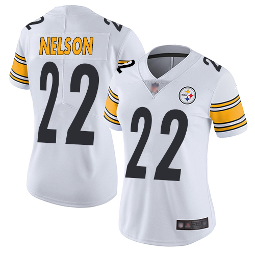 Women Pittsburgh Steelers Steven Nelson #22 NFL Vapor limited White Jersey