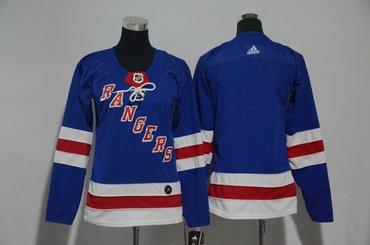 Women Rangers Blank Blue Women Adidas Jersey