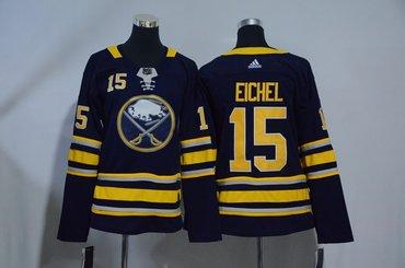 Women Sabres 15 Jack Eichel Navy Women Adidas Jersey