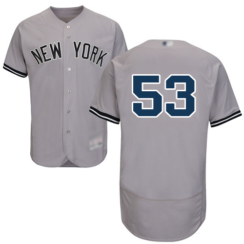 Yankees #53 Zach Britton Grey Flexbase Authentic Collection Stitched Baseball Jersey