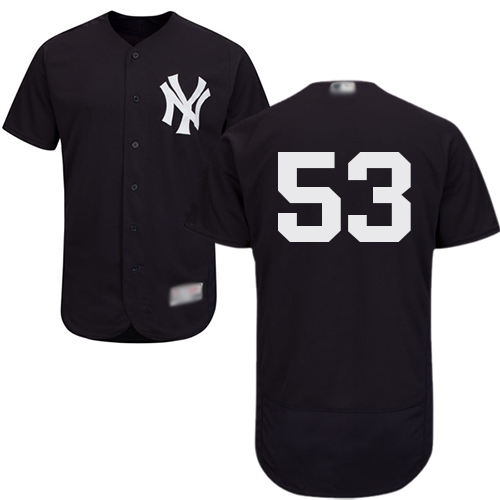 Yankees #53 Zach Britton Navy Blue Flexbase Authentic Collection Stitched Baseball Jersey