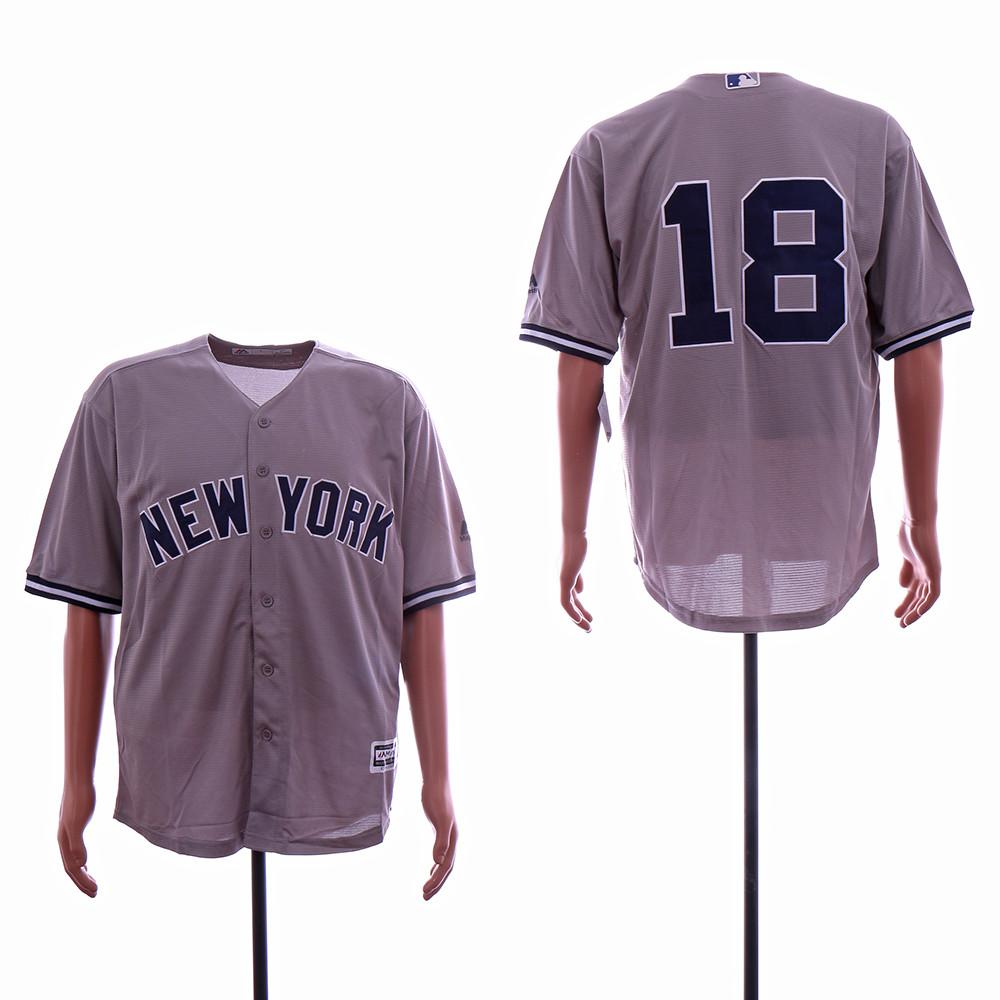 Yankees 18 Didi Gregorius Gray Cool Base Player Number Jersey