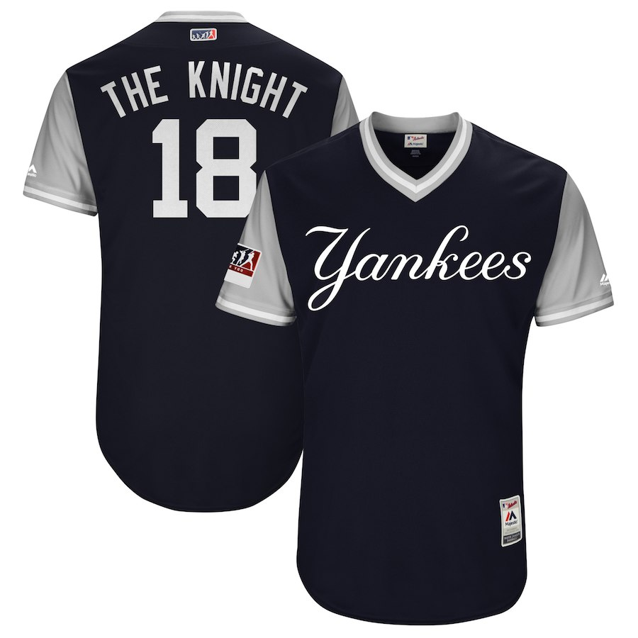 Yankees 18 Didi Gregorius The Knight Navy 2018 Players' Weekend Authentic Team Jersey