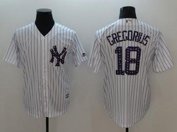 Yankees 18 Didi Gregorius White 2018 Stars & Stripes Cool Base Jersey