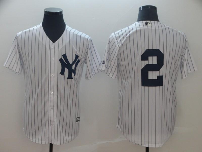 Yankees 2 Derek Jeter White Cool Base Jersey