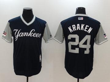 Yankees 24 Gary Sanchez Kraken Navy 2018 Players' Weekend Authentic Team Jersey