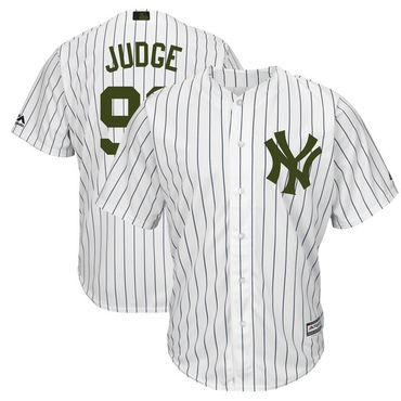 Yankees 99 Aaron Judge White 2018 Memorial Day Cool Base Jersey