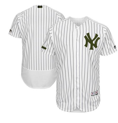 Yankees Blank 2017 Memorial Day Flexbase Player Jersey