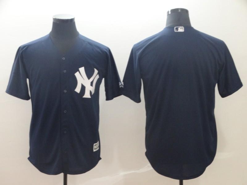 Yankees Blank Navy Cool Base Jersey
