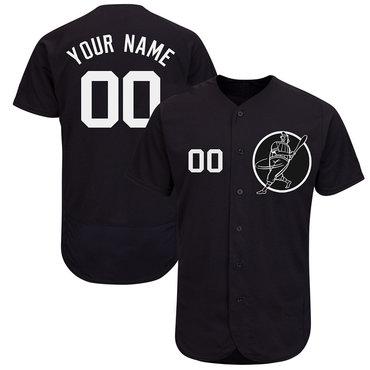 Yankees Blue Men's Customized Flexbase New Design Jersey