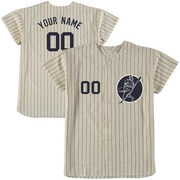 Yankees Cream Men's Customized New Design Jersey