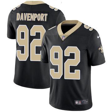 Youth  Nike Saints 92 Marcus Davenport Black Youth Vapor Untouchable Limited Jersey