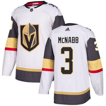Youth's Adidas Vegas Golden Knights #3 Brayden McNabb White NHL Jersey