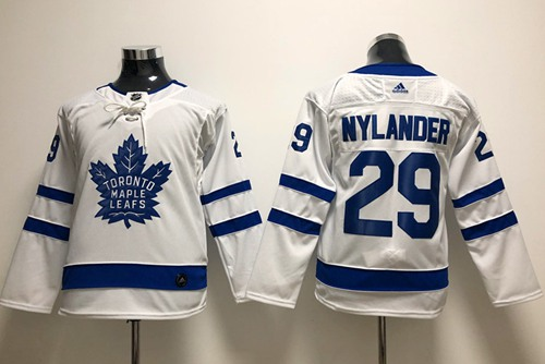 Youth Adidas Maple Leafs #29 William Nylander White Road Authentic Stitched Youth NHL Jersey